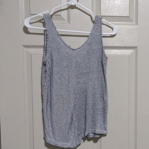 C&C blue and white tank top with button sides